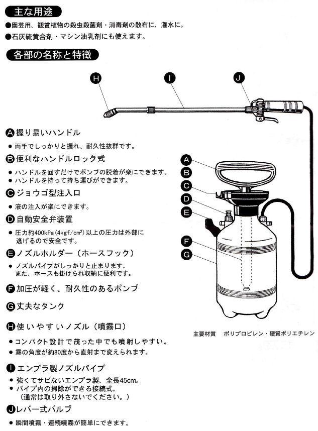 カメムシ用キンチョール乳剤(1L)ダイヤスプレー8740セット 説明画像7