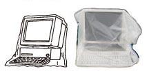 ネズミ一発退場 パソコン等の精密機械にはカバーをかけてください