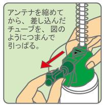 ケムシがコロリ アンテナノズルの外し方 [害虫駆除、対策、退治、毛虫(ケムシ)]