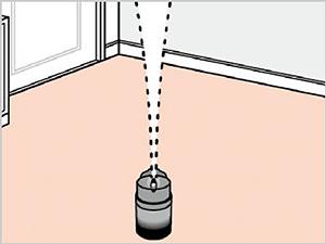 香るバルサン フレッシュローズの香り 使用方法3 [第2類医薬品、害虫駆除、くん煙剤、バルサン、ゴキブリ、ノミ、ダニ、南京虫]