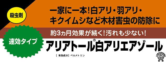 キクイムシ・シロアリ駆除用エアゾール アリアトール 説明画像1