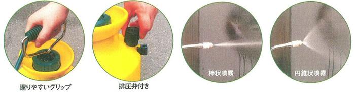 ハンドスプレヤー GS-006 製品特徴2 [樹脂製、噴霧器、ハンドスプレヤー、小型]