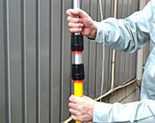 エアロング 使用方法3 ハンドルを必要な長さに調整してください。