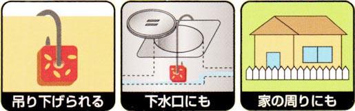 ネズレスブロック家まわり・水まわり用 使い方