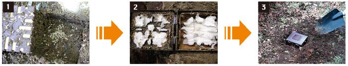 シロアリハンター 効果の確認方法と注意点 [シロアリ(白蟻・白アリ)、害虫駆除、退治、対策、方法、写真、家、巣(コロニー)、簡単]
